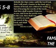 AMOS' FAMINE OF THE WORD OF YHWH (video now available)
