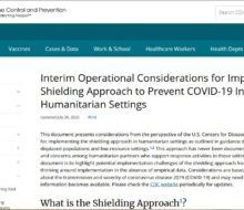 Camps & Shielding CDC Australia Tennessee